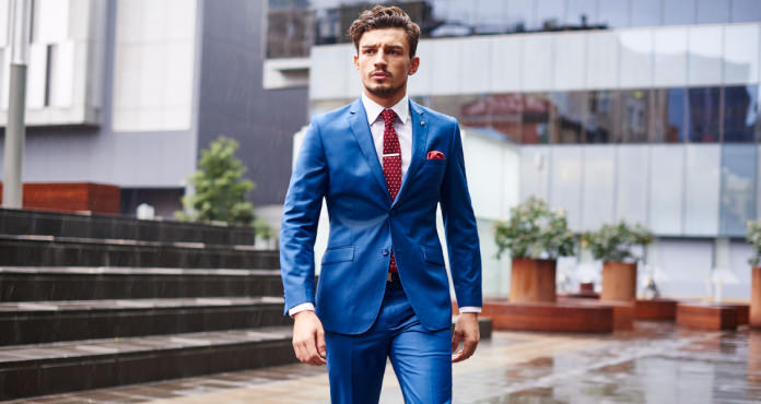 Man with blue suit